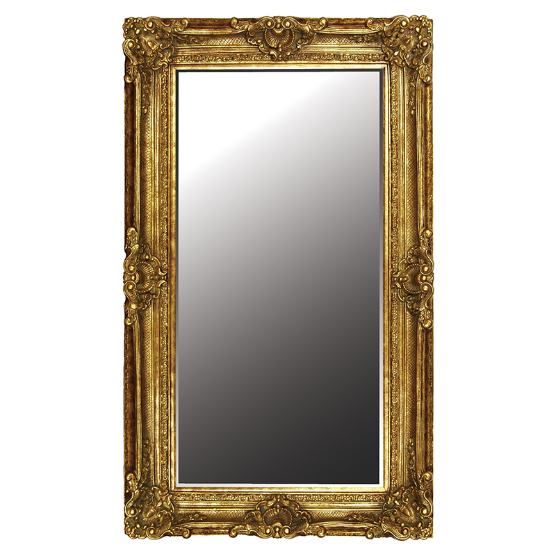 Ornate Gilt Picture Frame Rectangular Mirror Hire And Style