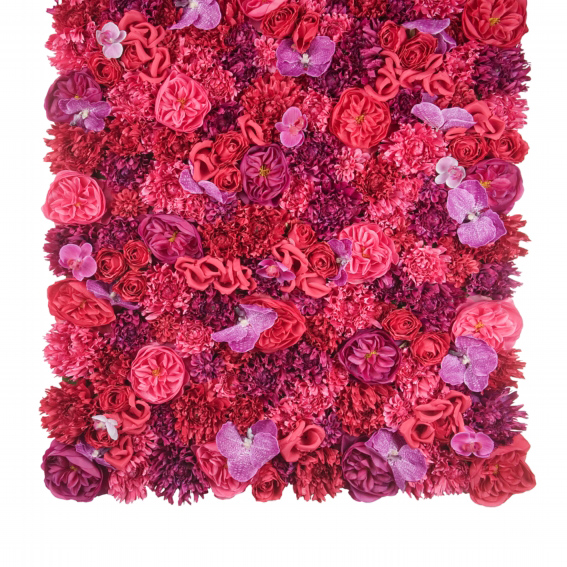 Pink silk flower panel hire and style hire and style add a splash of colour to your venue with this gorgeous wall panel covered in silk roses chrysanthemums and orchids in various hot pink hues mightylinksfo