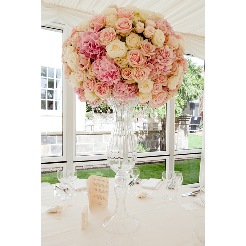 Tall Fluted Stemmed Glass Vase Hire And Style Hire And Style