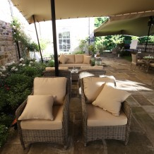 Rattan Armchair Seat Set Outdoor Furniture