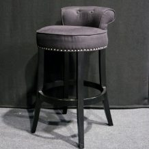black poseur stool