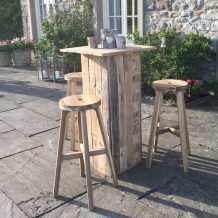 Wooden pallet poseur table