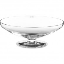 Footed Glass Low Bowl
