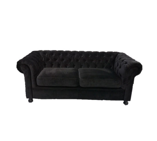 Black Velvet Chesterfield Sofa - Hire and Style | Hire and Style